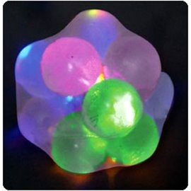 Squishy Ball With Light : Squishy Transparent Lightup Ball Light Up Molecule Ball